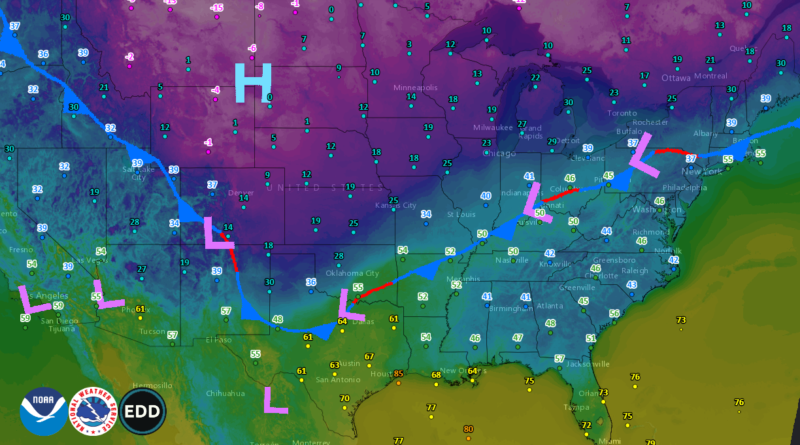 Cold Arctic Blast On The Move South and East