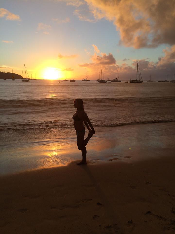 Kauai Sunset Pose