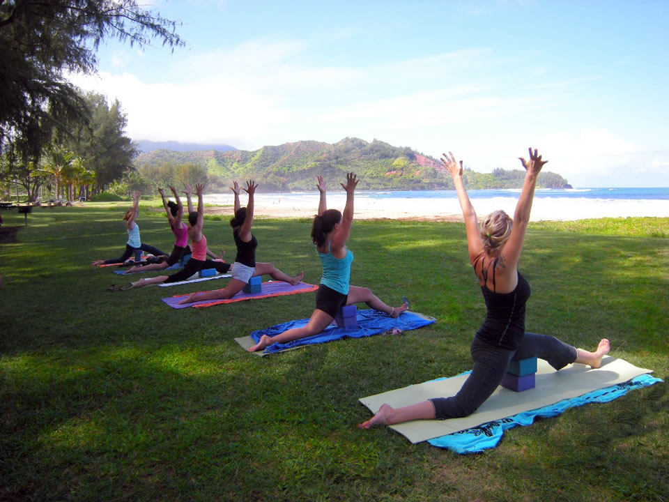 YogAlign at the beach