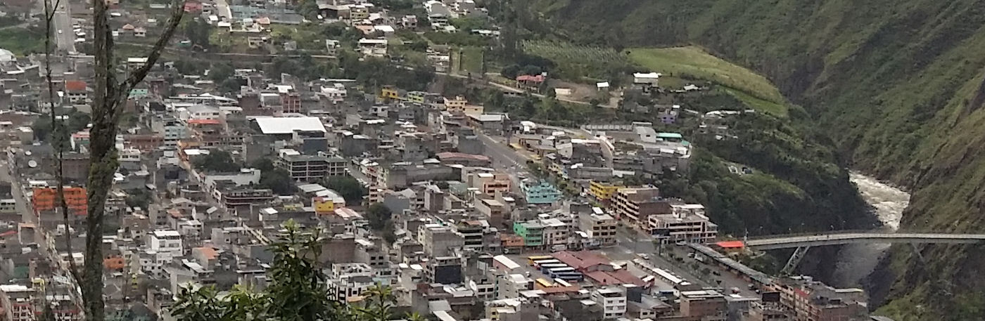 The town of Banos, Ecuador.