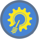 Design Icon blue yellow