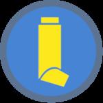 MDI Icon - blue yellow