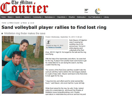 lost ring found Milton