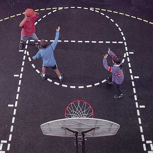 BCS-1 Basketball Court Stencil