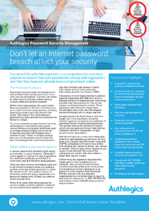 Password Security Management Datasheet