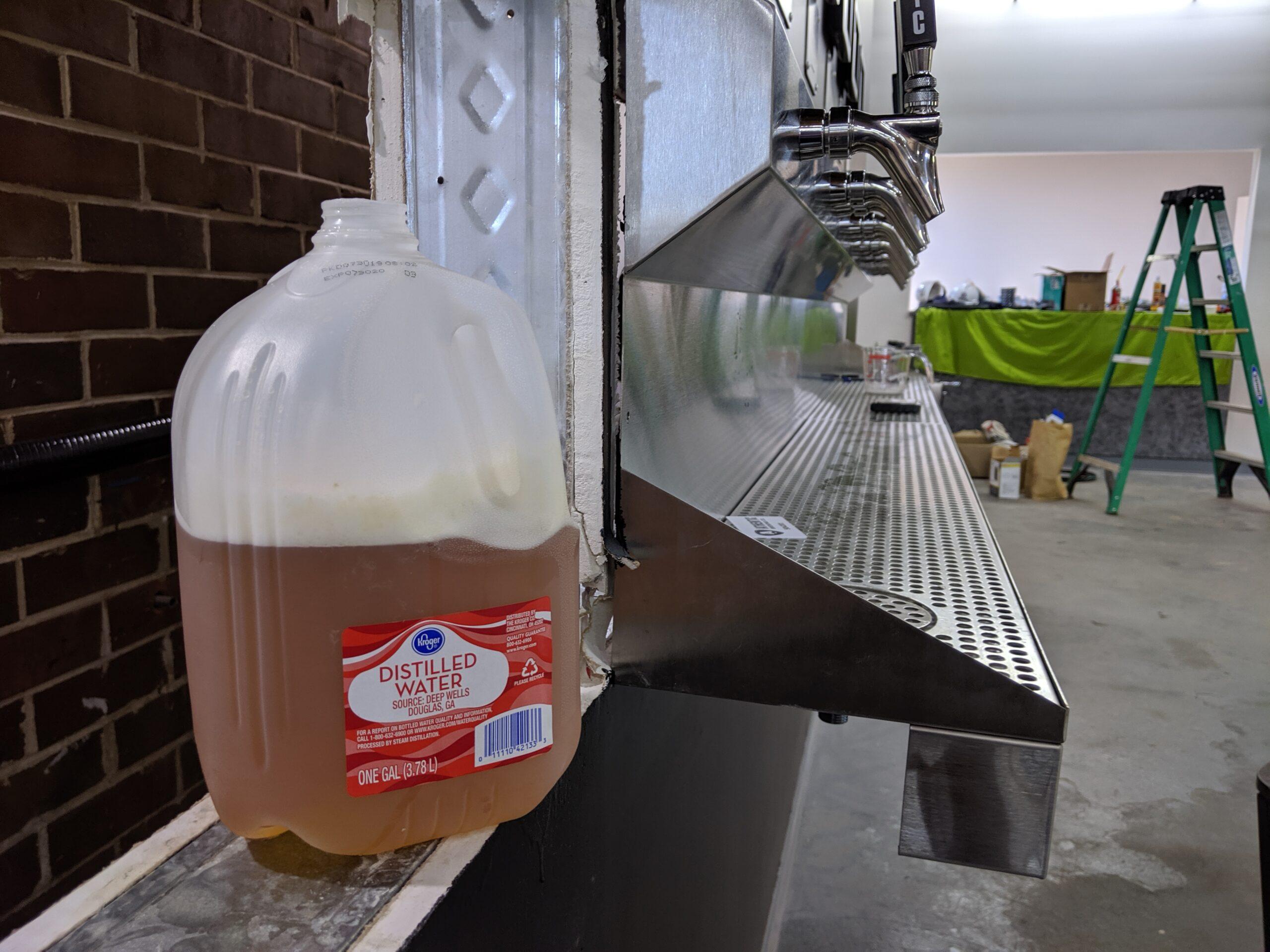 is it beer in the milk jug