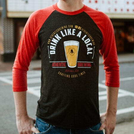 Athentic Brewing baseball tee