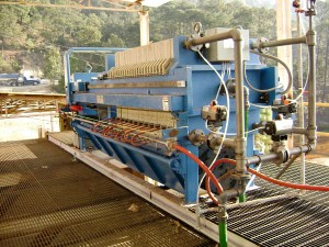 1000 mm filter press squeeze plates
