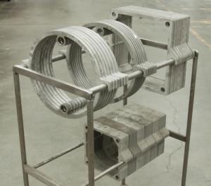 half inch stainless steel waterjet cut