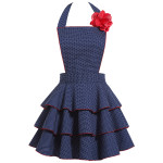 Petite Dot Party Navy Apron