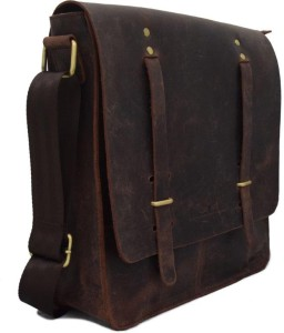 Leather Messenger Bag made by Dolphin Leathers.