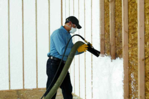 Houston Insulation Company Installing Spay Foam