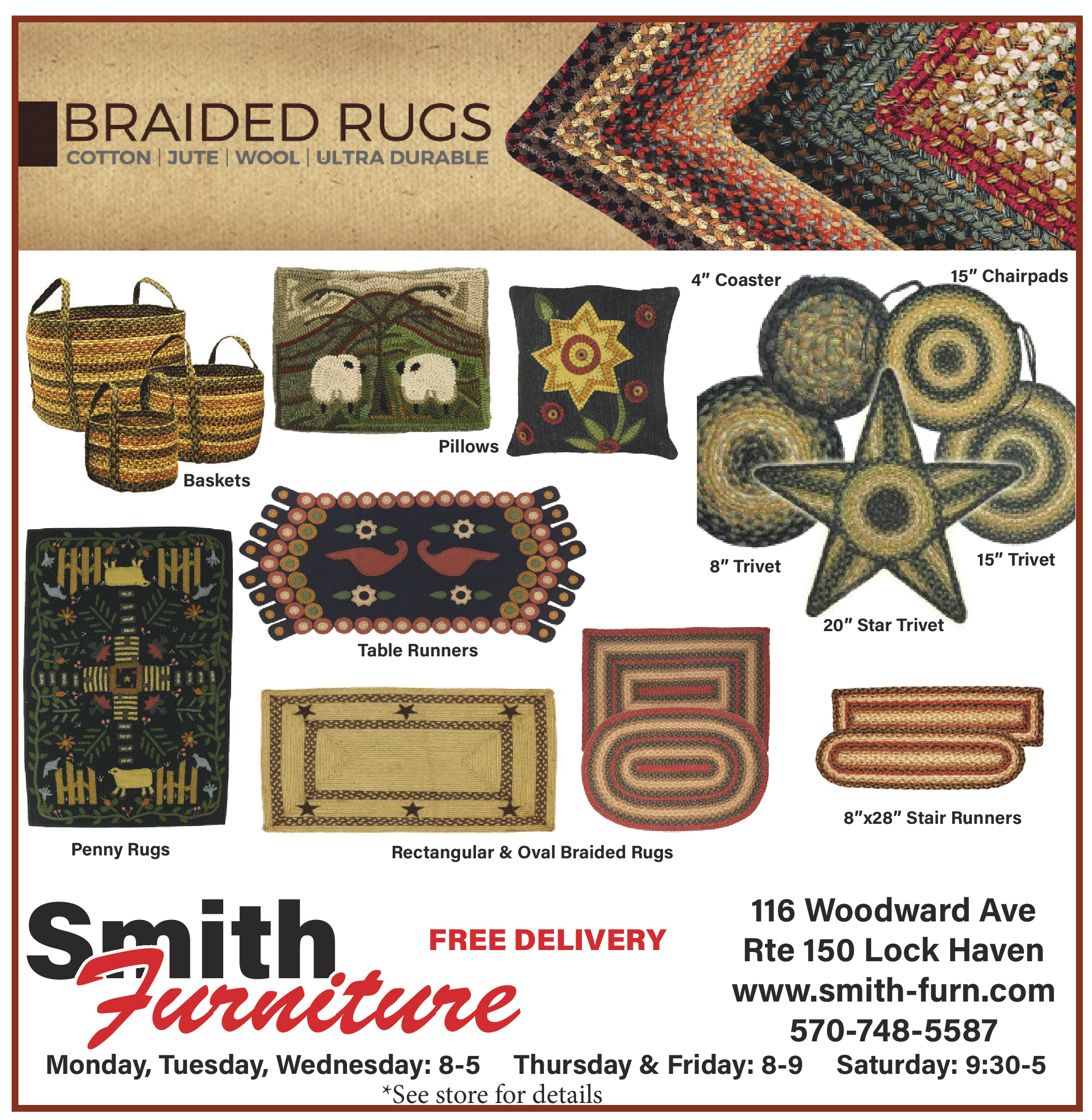Braided Rug Display Ad