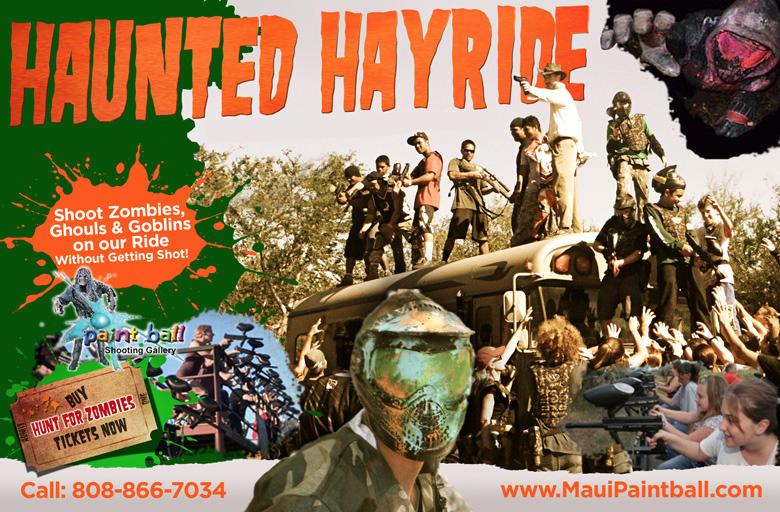 Maui Zombie shoot Haunted Hayride