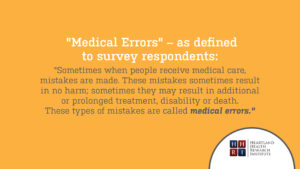 Medical Errors Definition