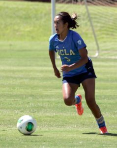 September 7, 2014 - UCLA Bruins Caprice Dydasco #3 during a game between the top ranked UCLA Bruins and the Pepperdine Waves at the Waipio Peninsula Soccer Stadium in Honolulu, HI.