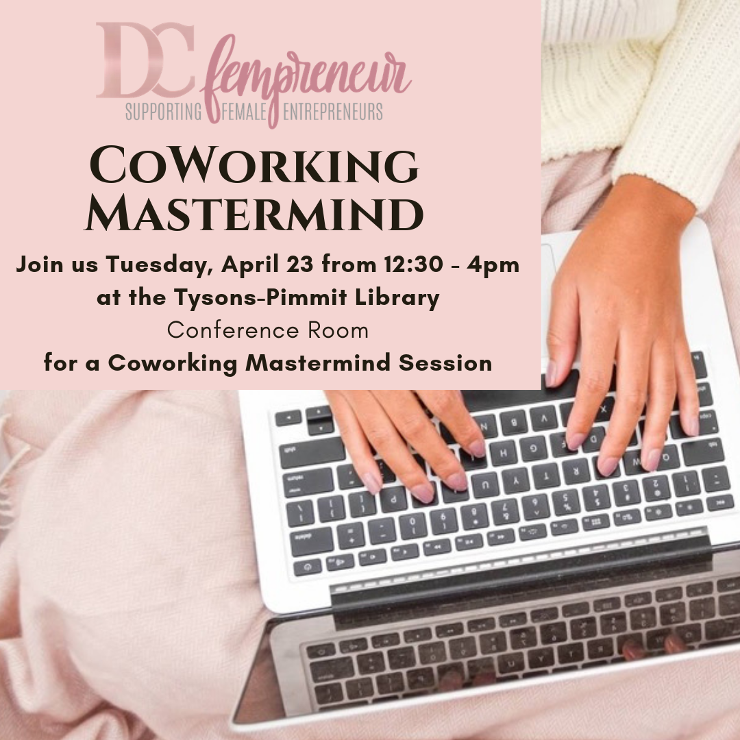 DCfempreneur offers community and networking to like-minded driven female entrepreneurs (fempreneurs) to impact their business to make it purposeful and profitable. These coworking masterminds provide the opportunity to meet others to build rapport, discuss challenges, and collaborate. Through input and advice from each other, the group provides energy, motivation, and problem-solving, as well as the opportunity to learn and grow together. When you go to the coffee shop to cowork, do you ever speak to anyone or get help on your ideas? Rarely. One person, idea, connection, or perspective can change the entire trajectory of your life and business! Come with your laptop, thermos with beverage of your choice, and be prepared to discuss something that you are working on (or struggling with) and what you need help with / how we can help you. Interested in helping others and connecting? Express your desire to help grow and expand this new community of women focused on supporting business growth and initiative by bringing a guest or sharing with others who may be interested.