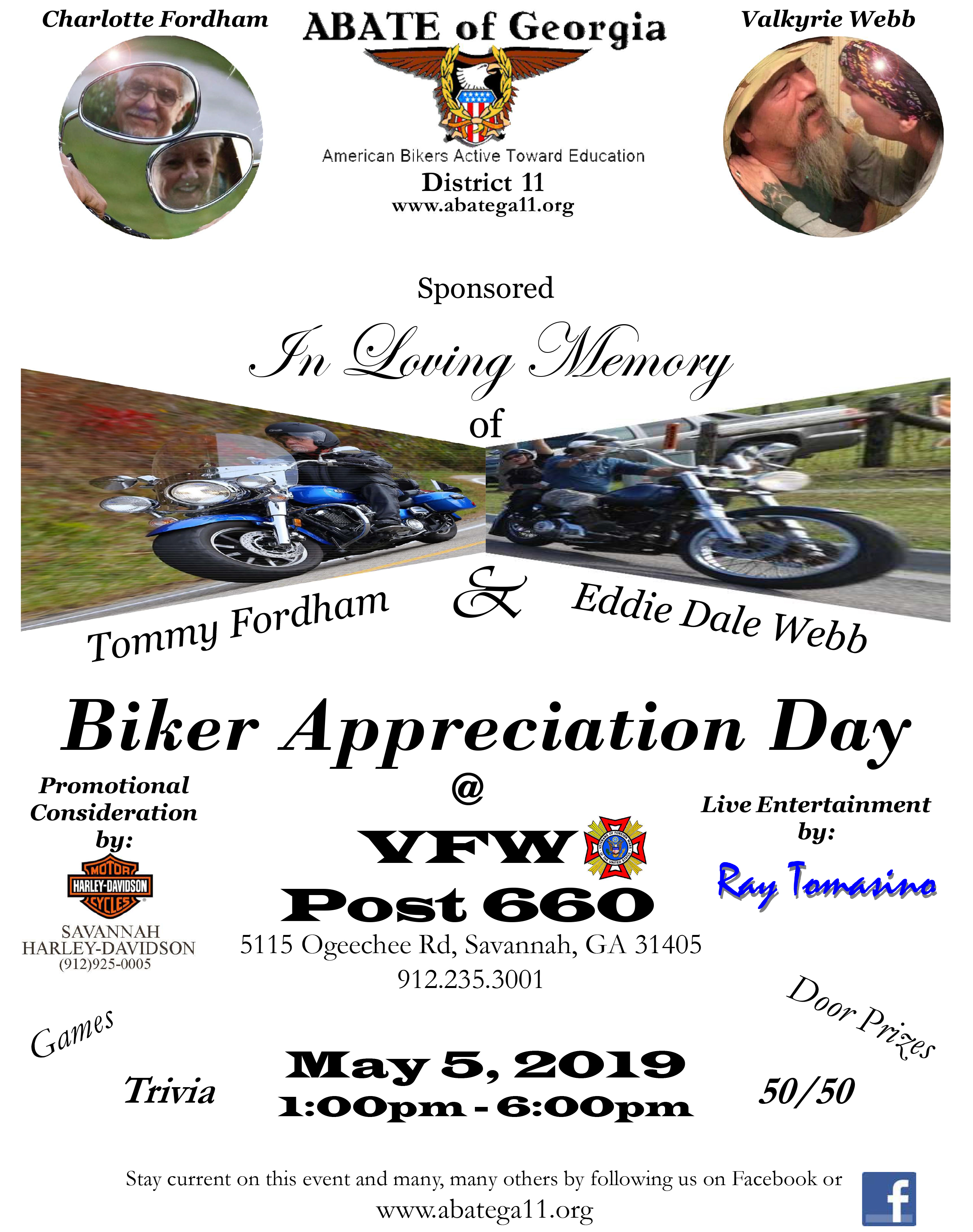 ABATE of Georgia, District 11 - Biker Appreciation Day @ VFW Post 660 | Savannah | Georgia | United States