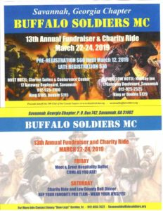 Buffalo Soldiers MC - 13th Annual Fundraiser & Charity Ride @ Clarion Suites & Conference Center | Savannah | Georgia | United States