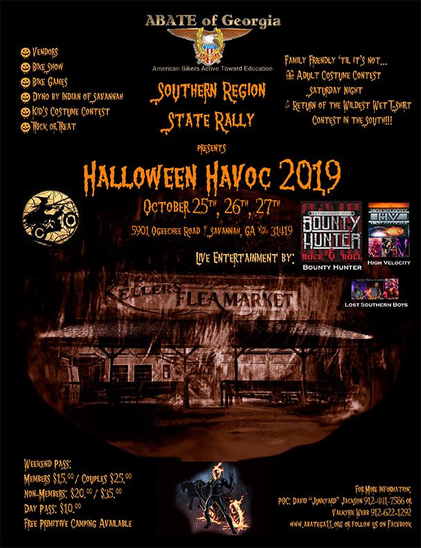 ABATE of Georgia Southern Region - Halloween Havoc @ Keller's Flea Market | Savannah | Georgia | United States