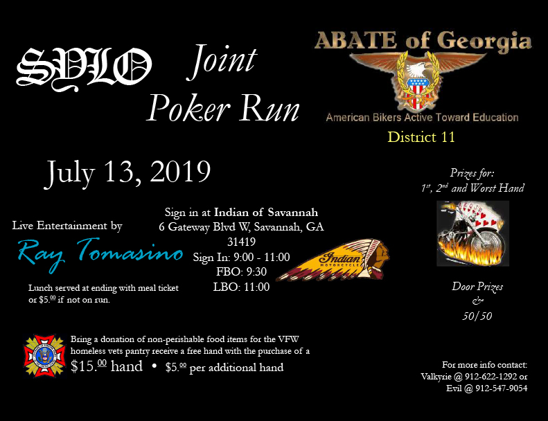 AOA/ABATE Joint Run @ Indian of Savannah | Savannah | Georgia | United States