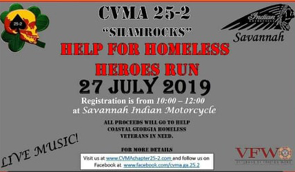 CMVA 25-2 Help for Homeless Heroes Run @ Indian Motorcycle Savannah | Savannah | Georgia | United States