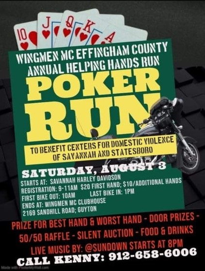 Effingham Co. Wingmen Helping Hands Poker Run @ Savannah Harley-Davidson | Savannah | Georgia | United States