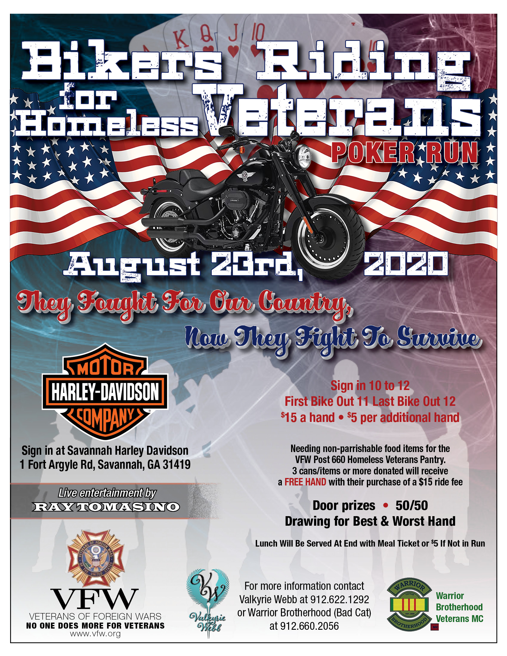 Bikers riding for Homeless Veterans @ Savannah Harley-Davidson | Savannah | Georgia | United States