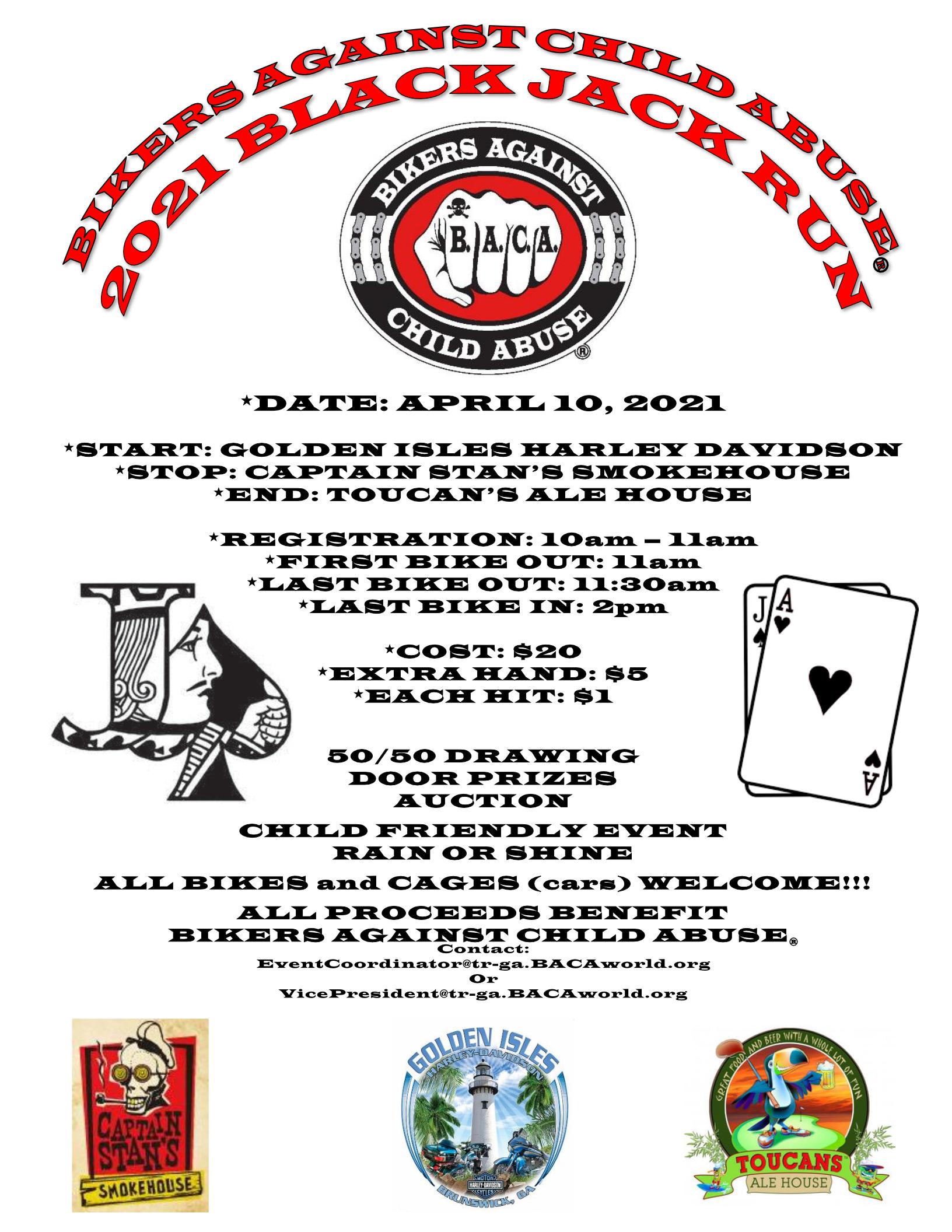 BACA - Blackjack Run @ Golden Isles Harley-Davidson | Brunswick | Georgia | United States