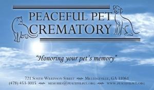 Peaceful Pet banner copy