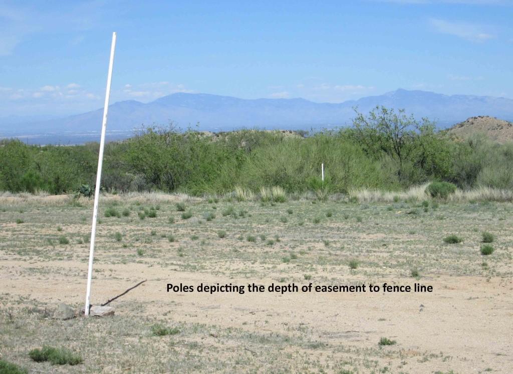 Easement - poles depicting depth