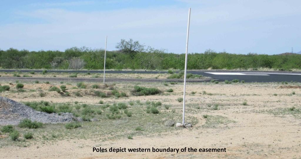 Easement - poles on western bndy