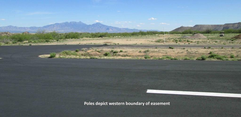 Easement - poles runway view