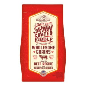 Raw Coated Beef with Grains