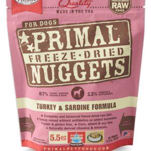 Primal 5.5oz Canine Turkey & Sardine Formula Nuggets