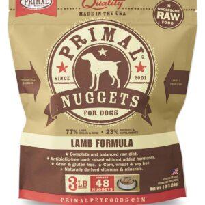 Primal 3lb Canine Lamb Formula Nuggets