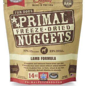 Primal 14oz Canine Lamb Formula Nuggets