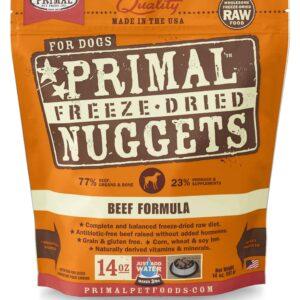 Primal 14oz Canine Beef Formula Nuggets
