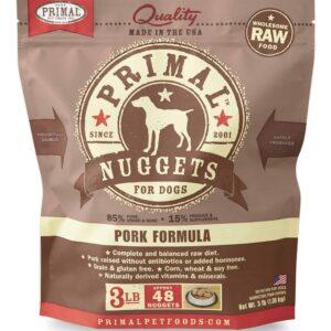 Primal 3lb Canine Pork Formula Nuggets