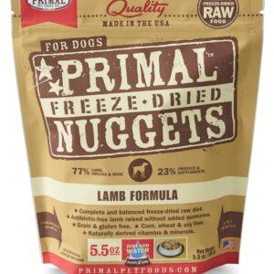 Primal 5.5oz Canine Lamb Formula Nuggets