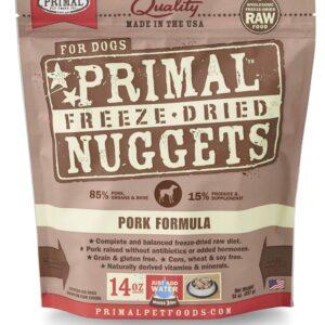 Primal 14oz Canine Pork Formula Nuggets