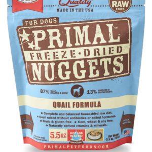 Primal 5.5oz Canine Quail Formula Nuggets