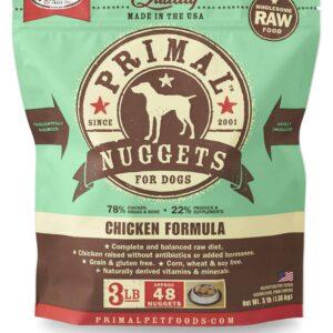 Primal 3lb Canine Chicken Formula Nuggets