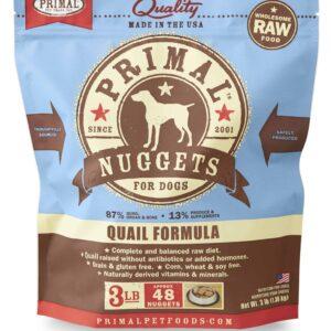 Primal 3lb Canine Quail Formula Nuggets