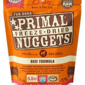 Primal 5.5oz Canine Beef Formula Nuggets