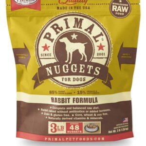 Primal 3lb Canine Rabbit Formula Nuggets