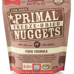 Primal 5.5oz Canine Pork Formula Nuggets