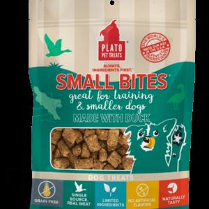 Plato Small Bites Duck Meaty Morsel Dog Treats 2.5 oz
