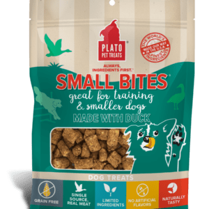 Plato Small Bites Duck Meaty Morsel Dog Treats 6 oz