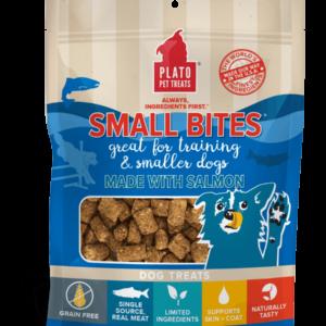 Plato Small Bites Salmon Meaty Morsel Dog Treats 6 oz